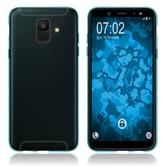 Silicone Case Galaxy A6 (2018) transparent turquoise Case