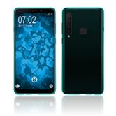 Silicone Case Galaxy A9 (2018) transparent turquoise Cover
