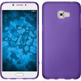 Silicone Case Galaxy C5 Pro matt purple + protective foils