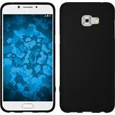 Silicone Case Galaxy C5 Pro matt black + protective foils