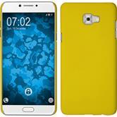 Hardcase Galaxy C7 Pro rubberized yellow + protective foils