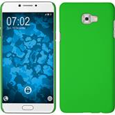 Hardcase Galaxy C7 Pro rubberized green + protective foils