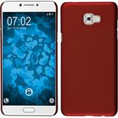 Hardcase Galaxy C7 Pro rubberized red + protective foils