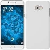 Hardcase Galaxy C7 Pro rubberized white + protective foils