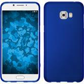 Silicone Case Galaxy C7 Pro matt blue + protective foils