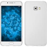 Silicone Case Galaxy C7 Pro matt white + protective foils