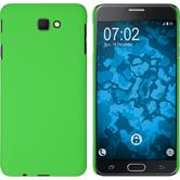 Hardcase Galaxy J7 Prime rubberized green + protective foils