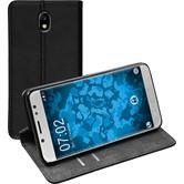 Artificial Leather Case Galaxy J7 Pro Bookstyle black + protective foils
