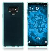 Silicone Case Galaxy Note 9 transparent turquoise Case