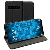 Artificial Leather Case Galaxy S10 Bookstyle black Cover