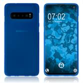 Silicone Case Galaxy S10 matt blue Cover