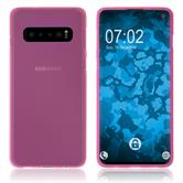 Silicone Case Galaxy S10 matt hot pink Cover