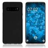 Silicone Case Galaxy S10 matt black Cover