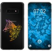 Samsung Galaxy S10e Silicone Case floral Fox M1-3