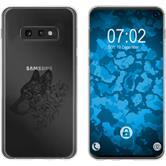 Samsung Galaxy S10e Silicone Case floral M3-1