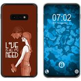 Samsung Galaxy S10e Silicone Case in Love M3