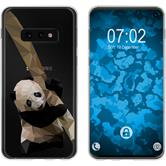 Samsung Galaxy S10e Silicone Case vector animals Panda M4