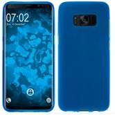 Silicone Case Galaxy S8 Plus matt blue + Flexible protective film