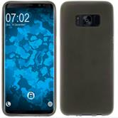 Silicone Case Galaxy S8 Plus matt gray + Flexible protective film