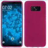 Silicone Case Galaxy S8 Plus matt hot pink + Flexible protective film