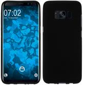 Silicone Case Galaxy S8 Plus matt black + Flexible protective film