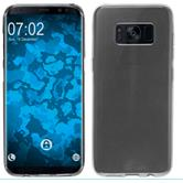 Silicone Case Galaxy S8 Plus transparent gray + Flexible protective film