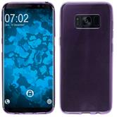 Silicone Case Galaxy S8 Plus transparent purple + Flexible protective film