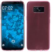 Silicone Case Galaxy S8 Plus transparent pink + Flexible protective film