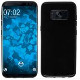 Silicone Case Galaxy S8 Plus  black + Flexible protective film