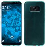 Silicone Case Galaxy S8 Plus transparent turquoise + Flexible protective film