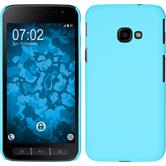 Hardcase Galaxy Xcover 4 rubberized light blue