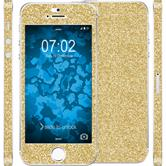1 x Glitter foil set for Apple iPhone 5 / 5s / SE gold protection film