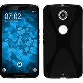 Silicone Case for Google Motorola Nexus 6 X-Style black