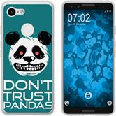 Google Pixel 3 Silicone Case Crazy Animals Panda M2