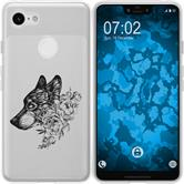 Google Pixel 3 XL Silicone Case floral M3-1