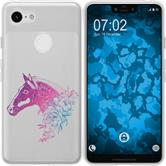 Google Pixel 3 XL Silicone Case floral M5-6