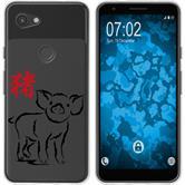 Google Pixel 3a Funda de silicona Chinese Zodiac M12