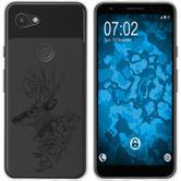 Google Pixel 3a XL Funda de silicona floral M7-1