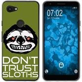 Google Pixel 3a XL Silicone Case Crazy Animals sloth M3