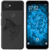 Google Pixel 3a XL Silicone Case floral Fox M1-1