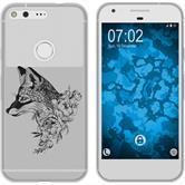 Google Pixel Silicone Case floralFox M1-1