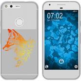 Google Pixel Silicone Case floralFox M1-2