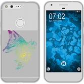 Google Pixel Silicone Case floralFox M1-4