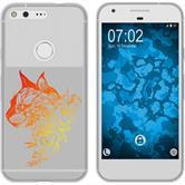 Google Pixel Silicone Case floral M2-2