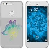Google Pixel Silicone Case floral M3-4