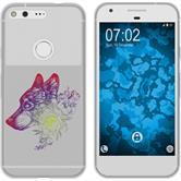 Google Pixel Silikon-Hülle Floral  M3-5