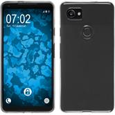 Silicone Case Pixel 2 XL transparent Crystal Clear + protective foils