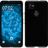 Silicone Case Pixel 2 XL  black + protective foils