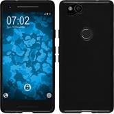 Silicone Case Pixel 2  black + protective foils