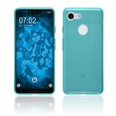 Silicone Case Pixel 3 XL transparent turquoise Case